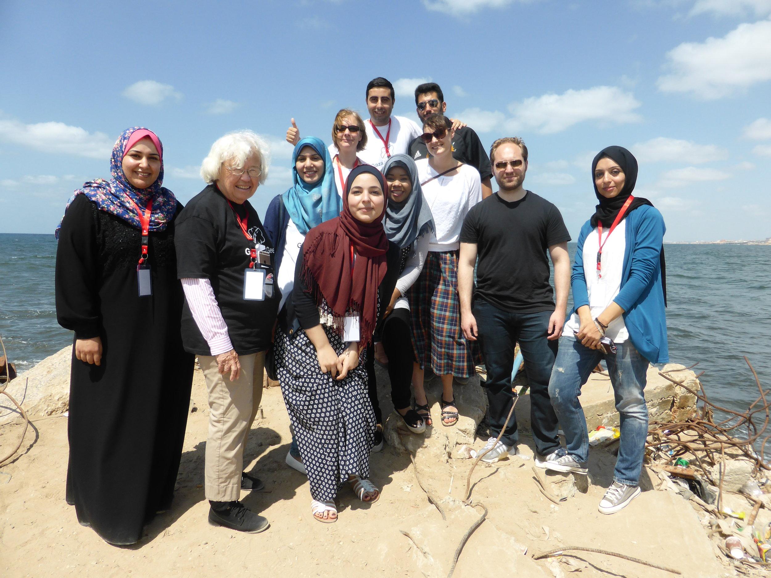 Mentors (Sabine, Elizabeth, Dario, Joe and me) with Heba, and some of our incredible interpreters.