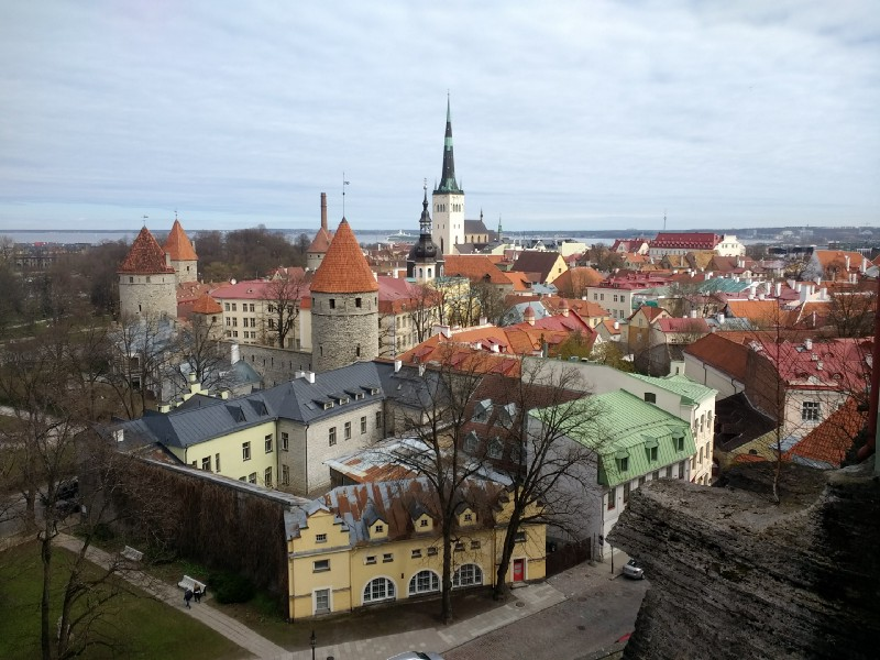 A view of Tallinn, the capital city of Estonia