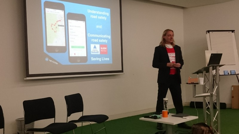 Sam Chapman, founder of The Floow, speaking at SW Sheffield, November 2015