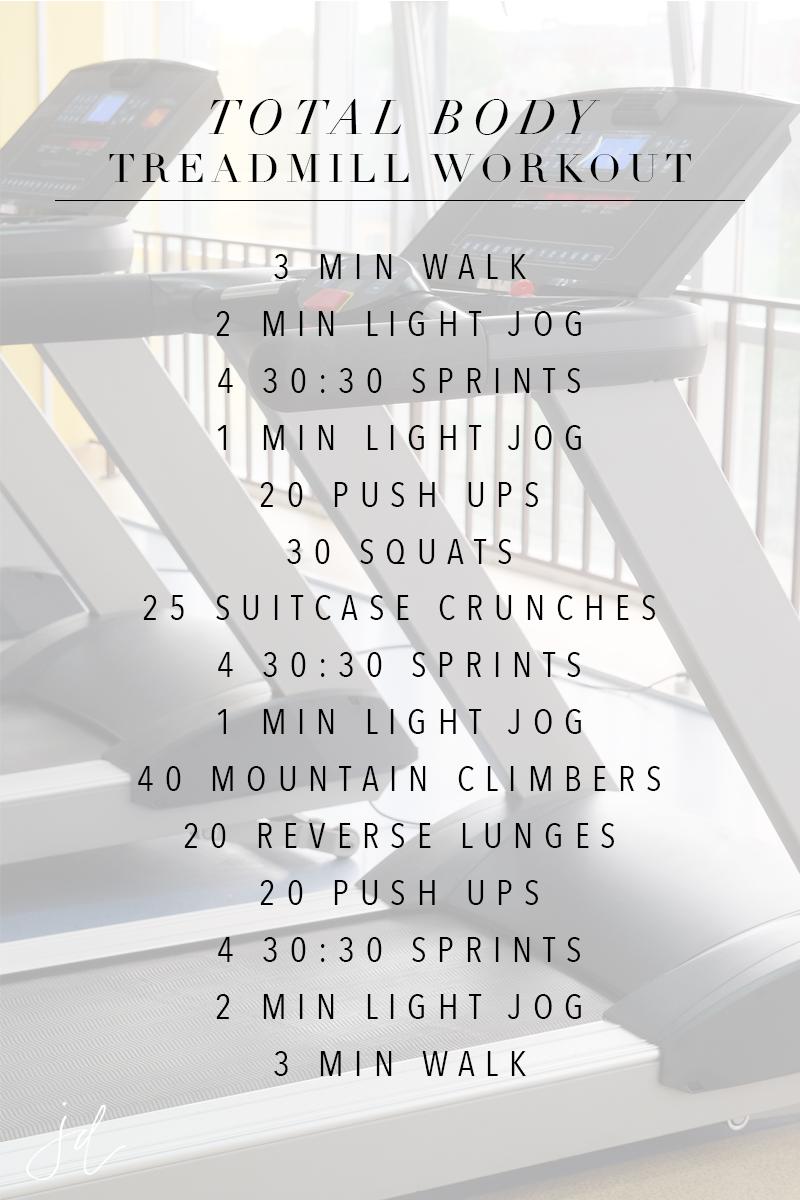 Total Body Treadmill Workout   Jennifer Diaz