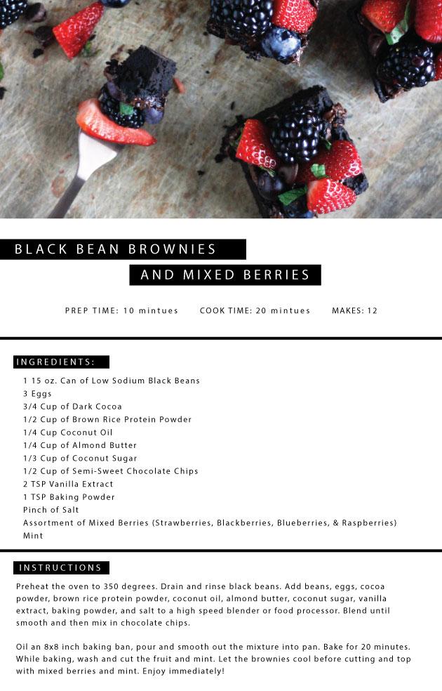 Black Bean Brownies + Mixed Berries   Jennifer Diaz