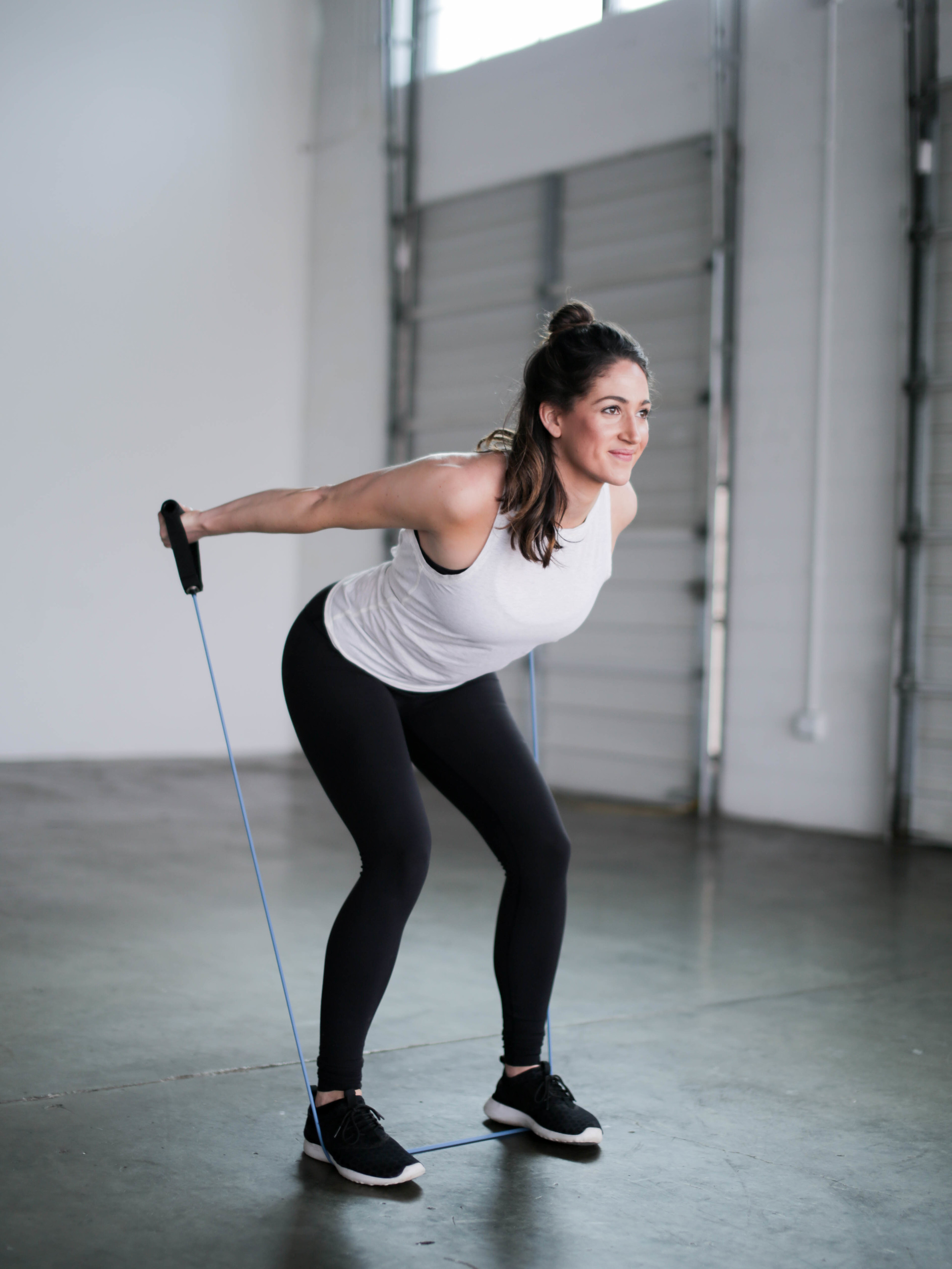 On-The-Go Resistant Band Workout | Jennifer Diaz | Photo by Kelsey Cherry