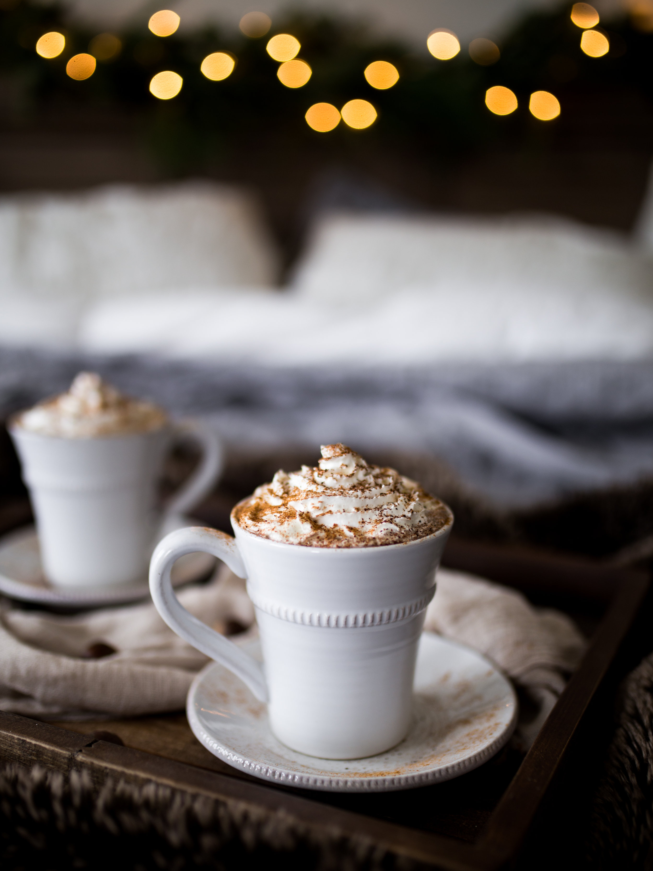 Spiced Hot Cocoa & Coconut Whipped Cream | Jennifer Diaz | Healthy Hot Chocolate | Holiday Recipes | Dairy Free | Winter Drinks