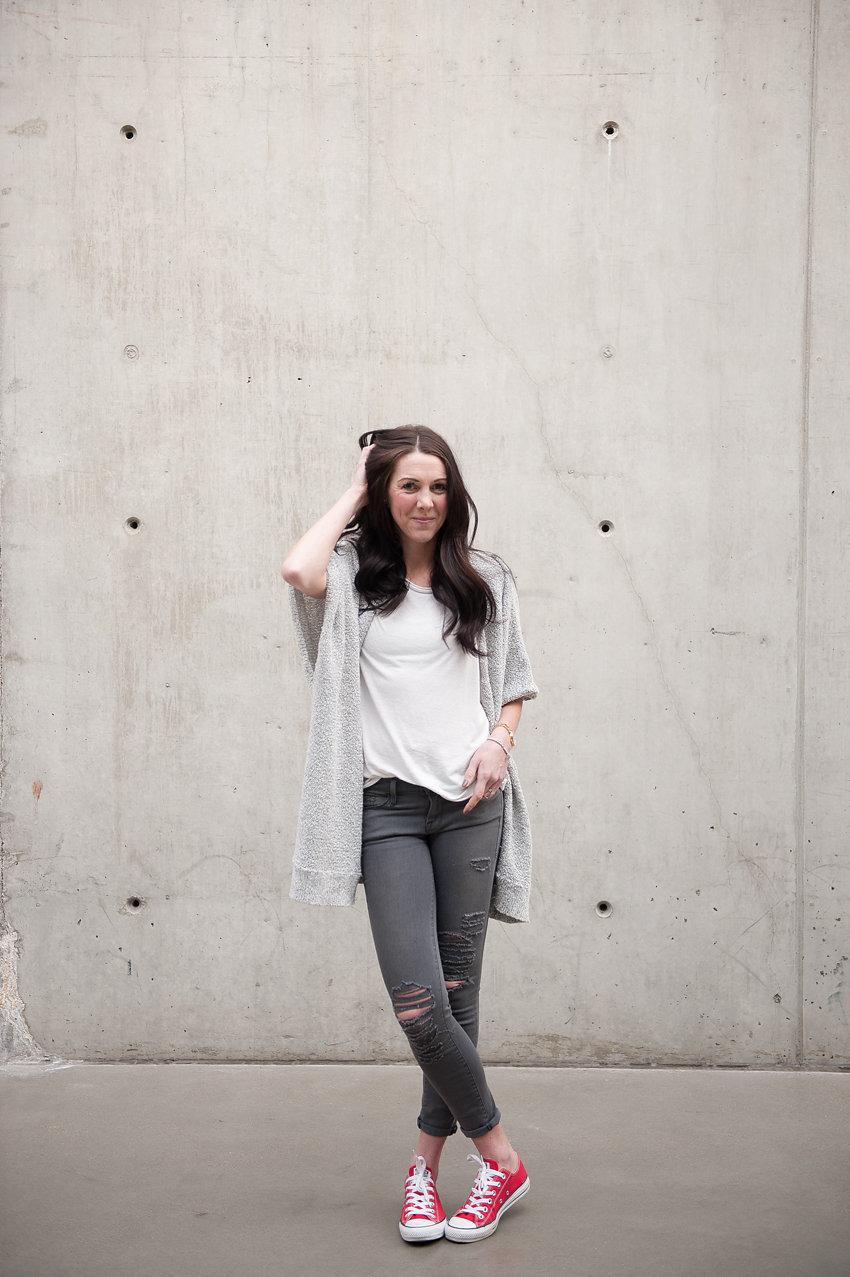 white t-shirt style - Oil & Grain