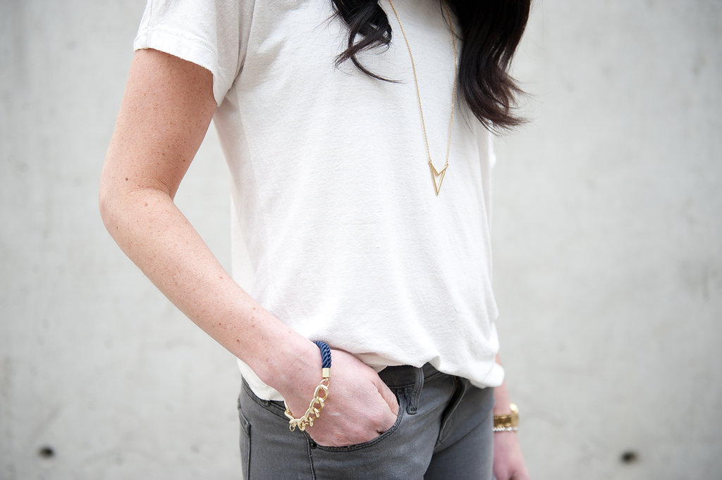 jeans and white t-shirt - oil & grain