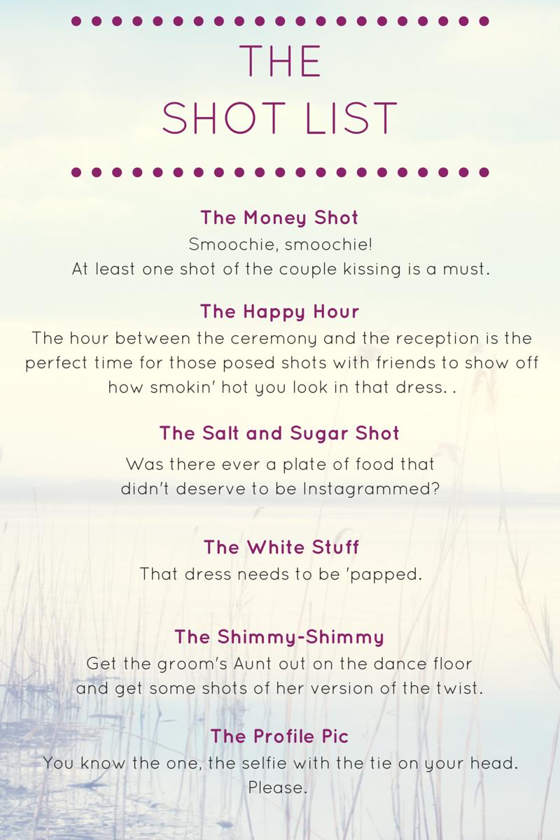 The Shot List