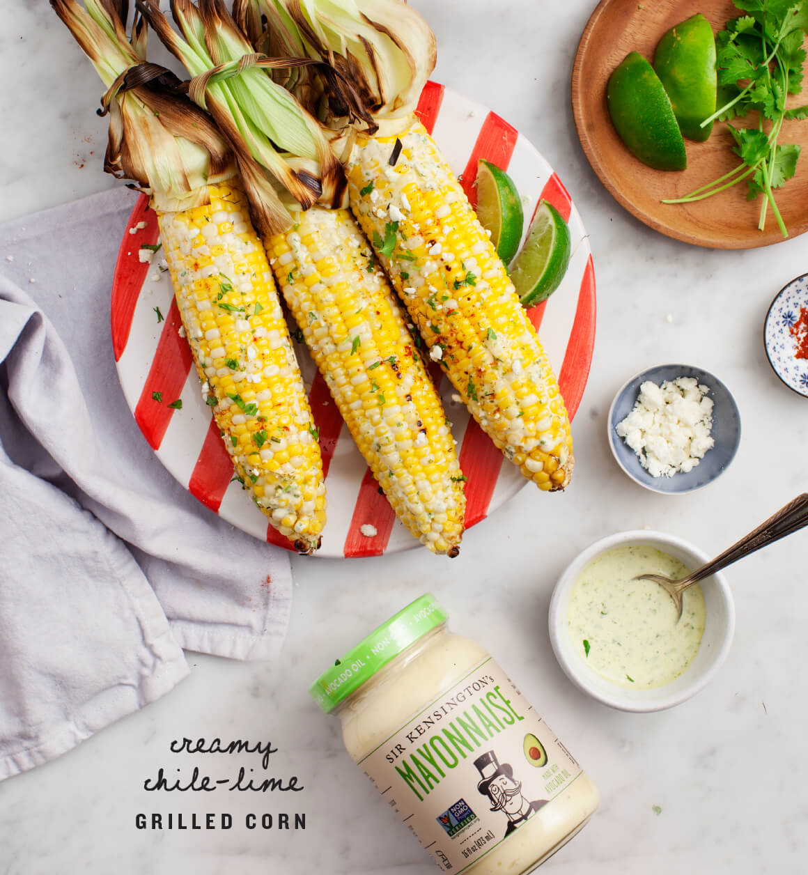 love and lemons creamy chile-lime grilled corn on Oil and Grain.jpg