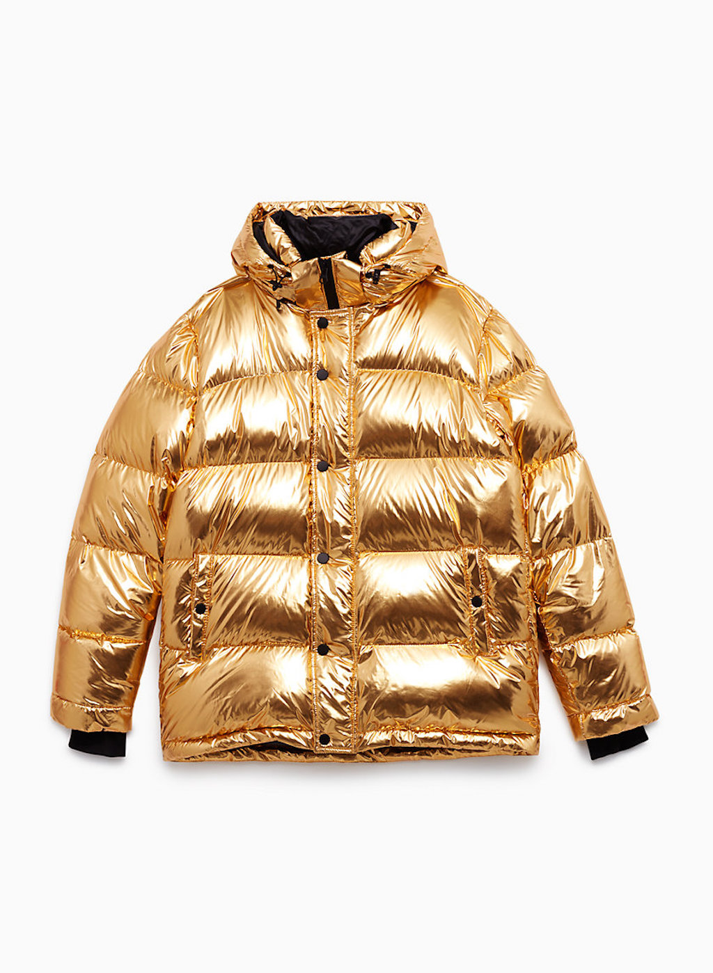 I'm not sure this Gold Puffer jacket of my dreams needs any explanation.  - Shop it here.