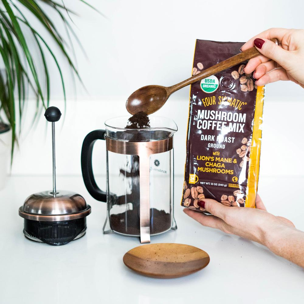 I drink shrooms for breakfast - I considered quitting coffee (for like a millisecond) & then Four Sigmatic fell into my lap. I get the grounds; a mixture of organic coffee, chaga and lion's mane extract (mushrooms). I feel more alert than when I drink regular coffee & I can drink more than one cup without getting the coffee jitters. Plus, there are excellent health benefits!Four Sigmaticcan explain it in detail better than I can but know that it has my stamp of approval.Read about it here!