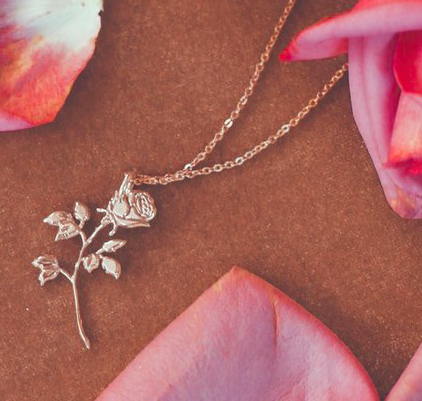 HOW CUTE - HAPPY VALENTINE'S DAY! How sweet is this rose necklace from Redwolf?