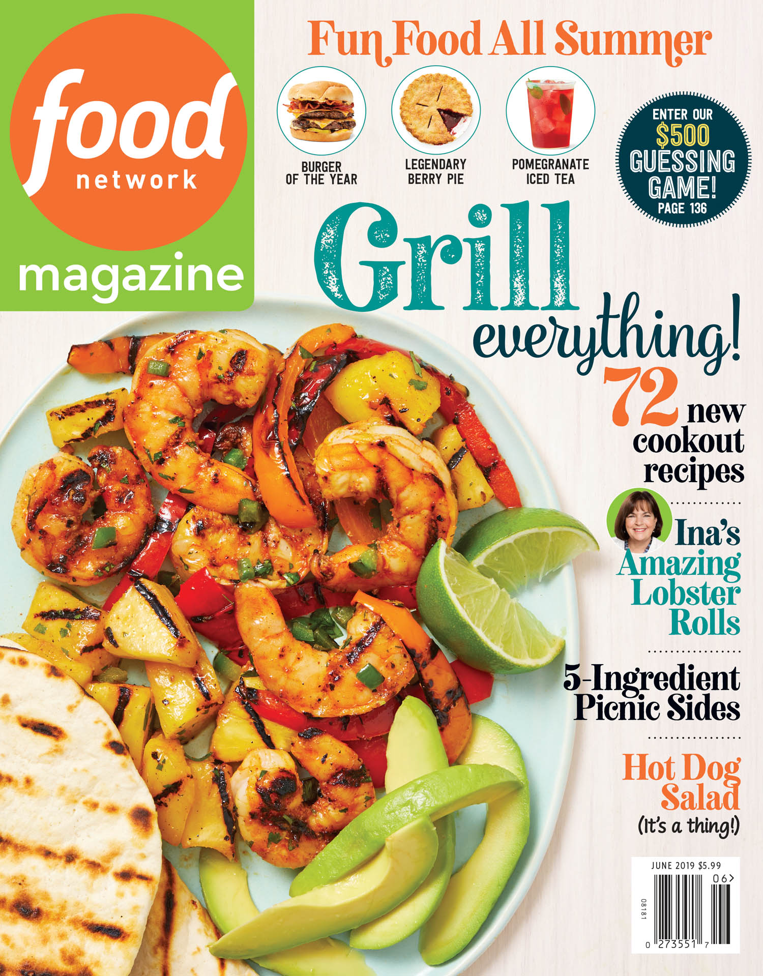 June 2019 Food Network Magazine Cover