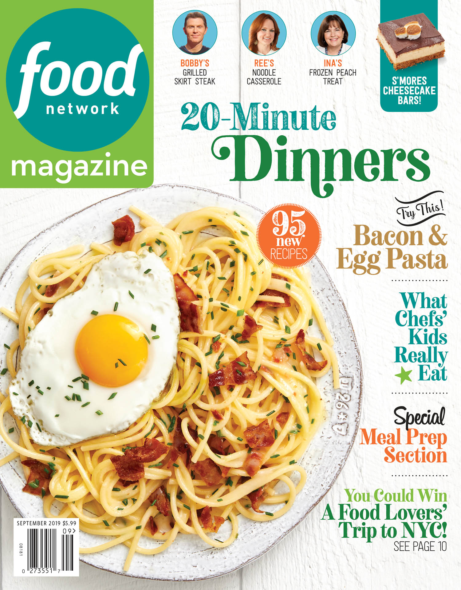 September 2019 Food Network Magazine Cover
