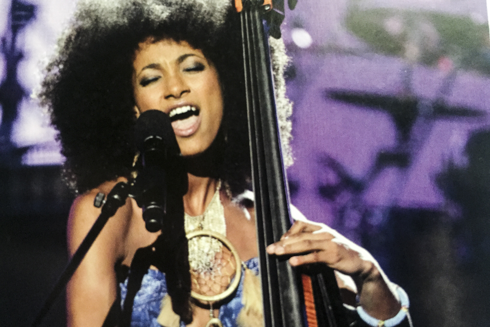 Bassist Esperanza Spaulding from the catalog. (Detail)