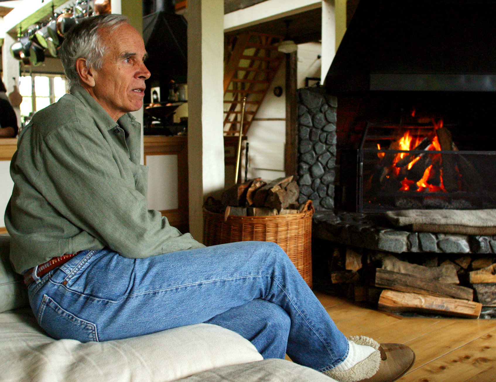 Douglas Tompkins at his home in Pumalin Park in Chile in 2005. Scott Dalton for The New York Times