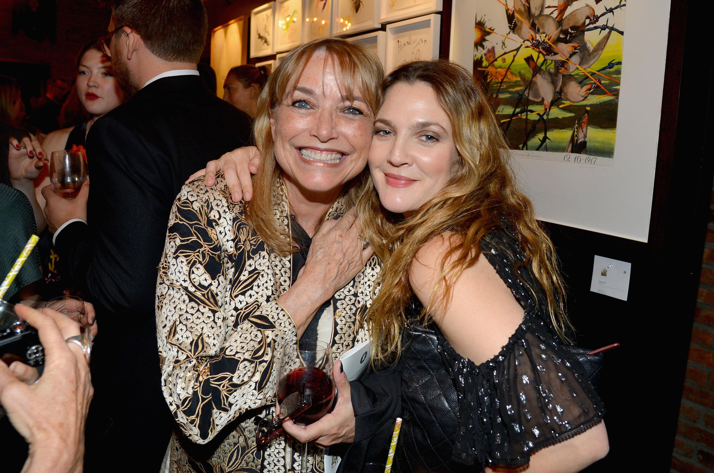 Karen Allen and Drew Barrymore