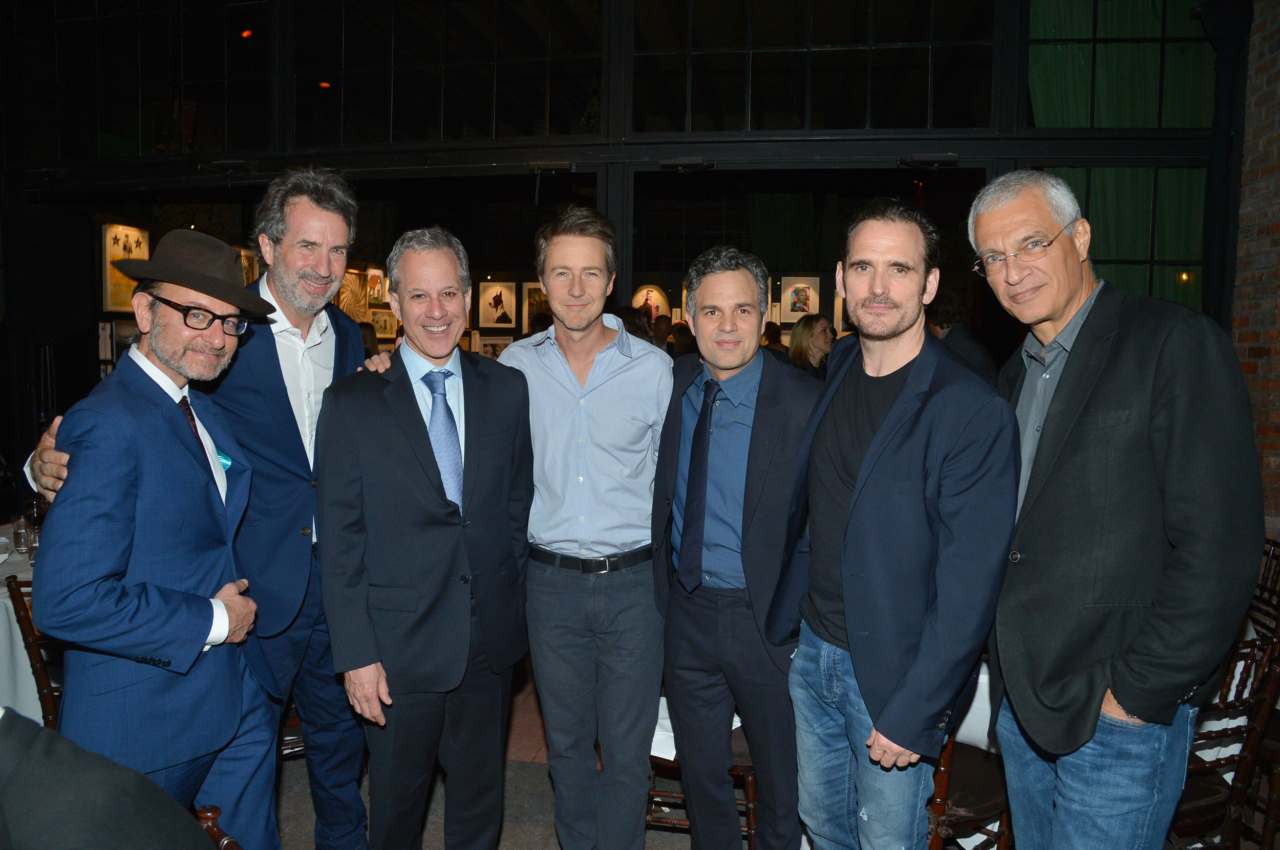 Fisher Stevens, Eric Goode, Eric Schneiderman, Edward Norton, Mark Ruffalo, Matt Dillon, and Louie Psihoyos