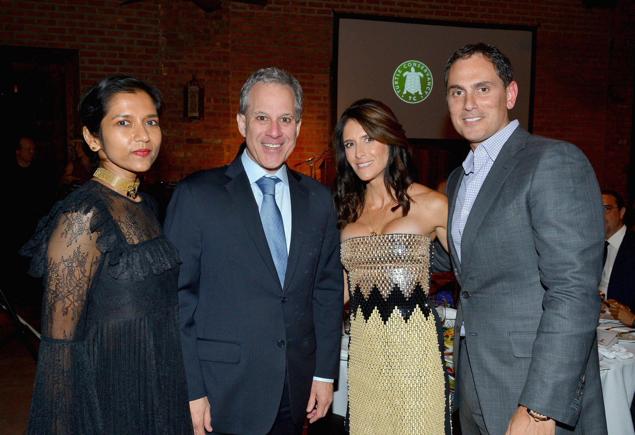 Tanya Selvaratnam, Eric Schneiderman, Adria Sheth, and Brian Sheth