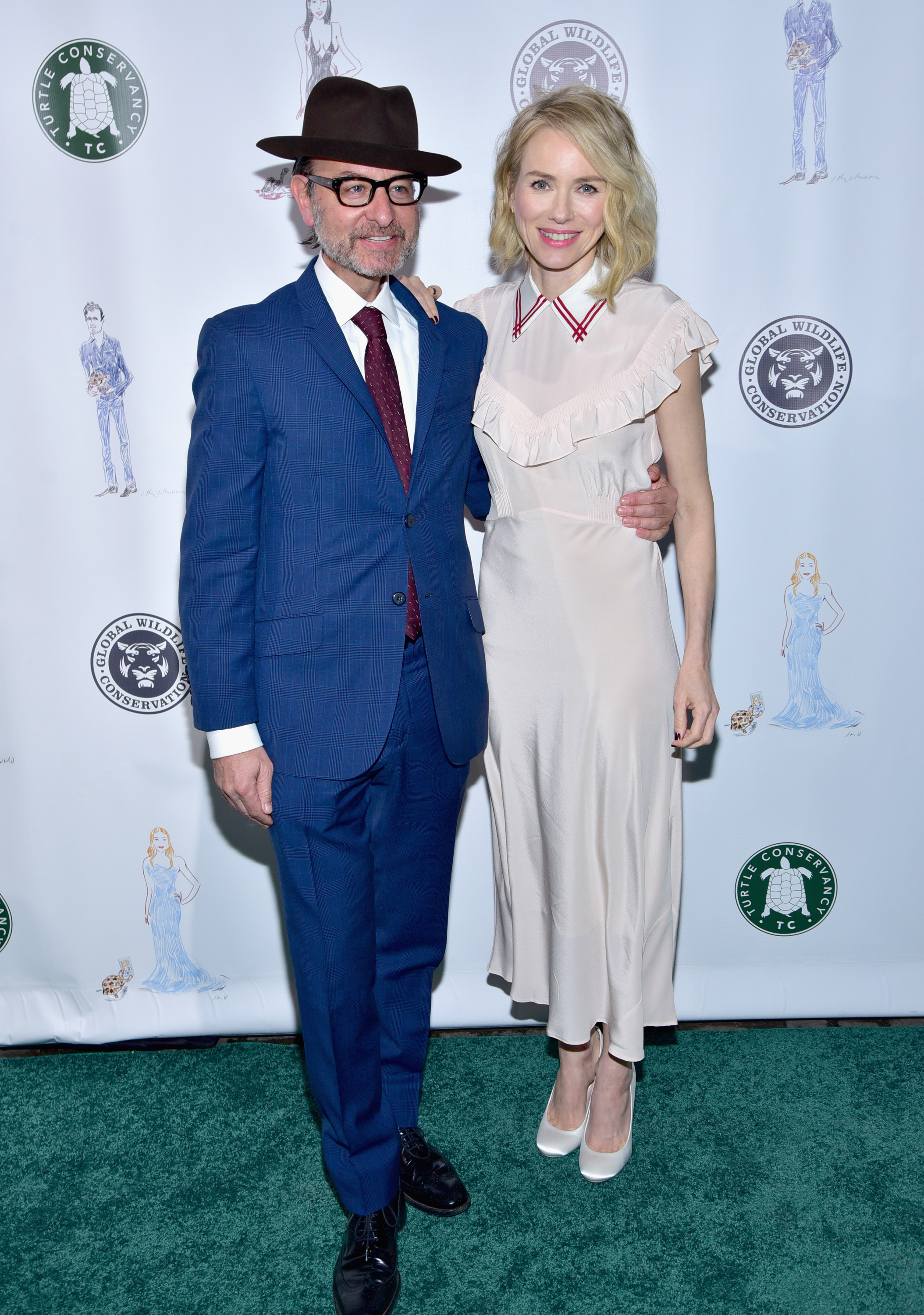 Fisher Stevens and Naomi Watts