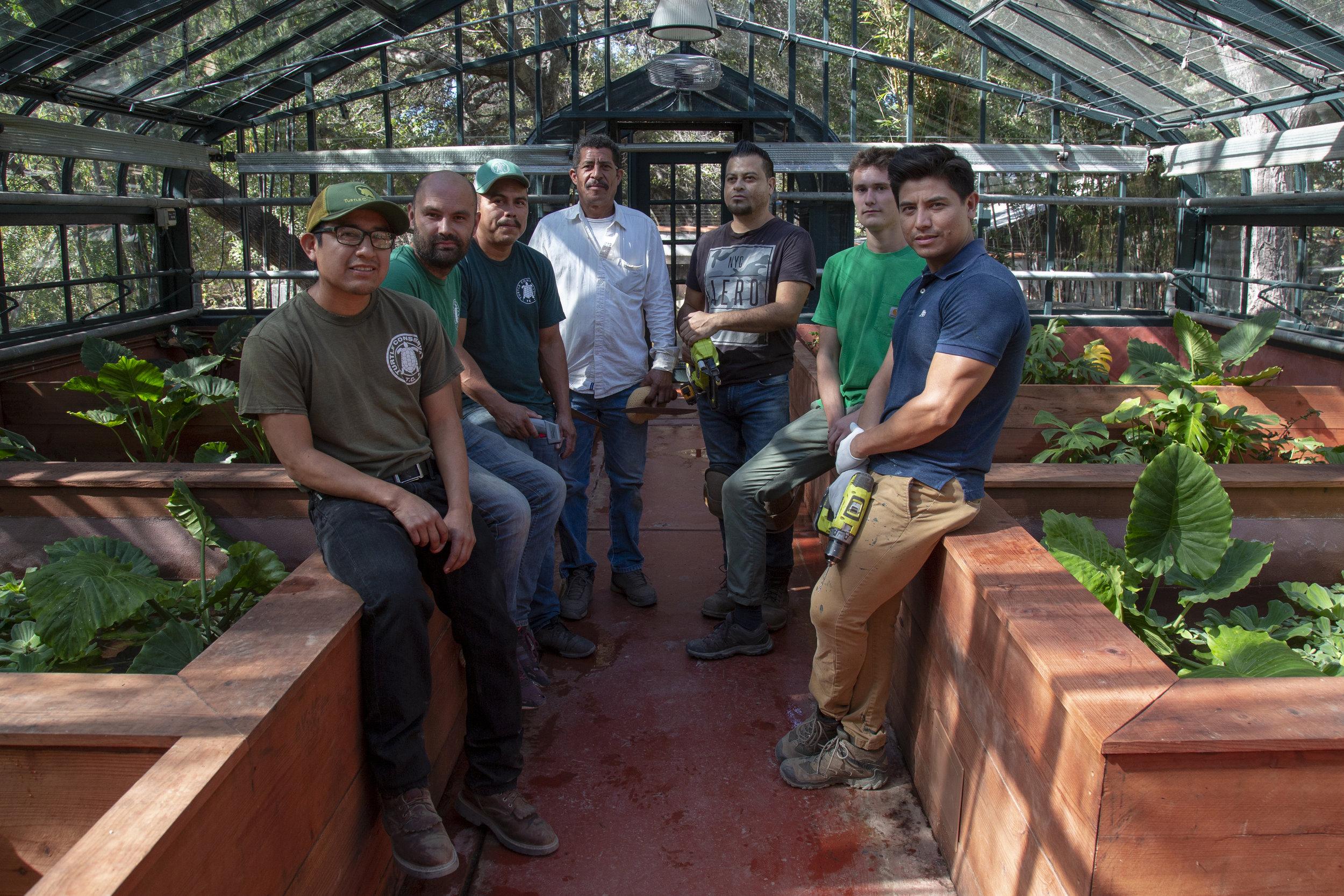 From Left: Juan, Lukasz, Armando, Noel, Julio, Simon, Oscar