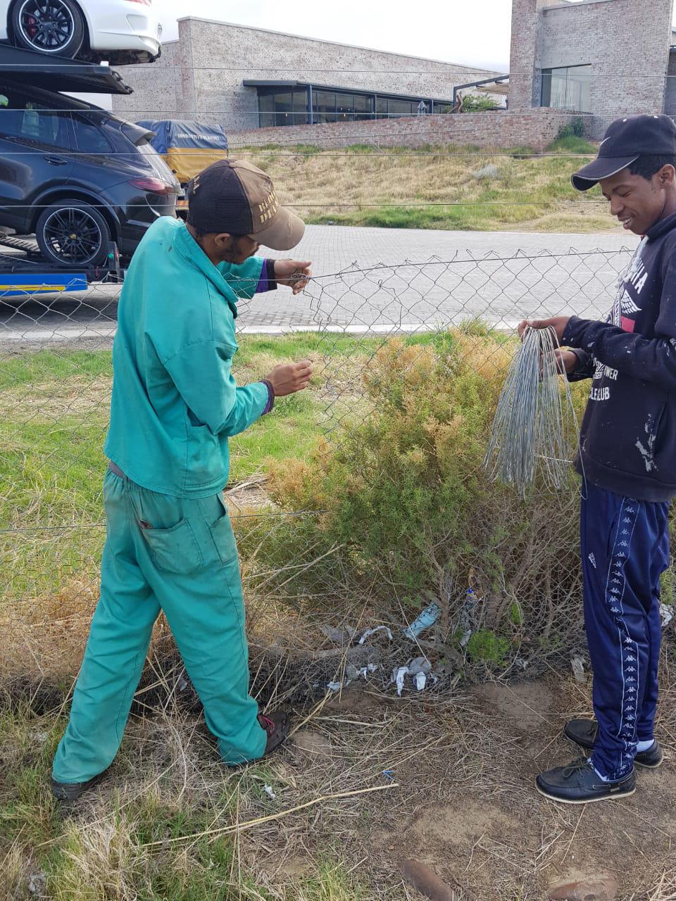 Tortoise Guardian Team Repairing Fences