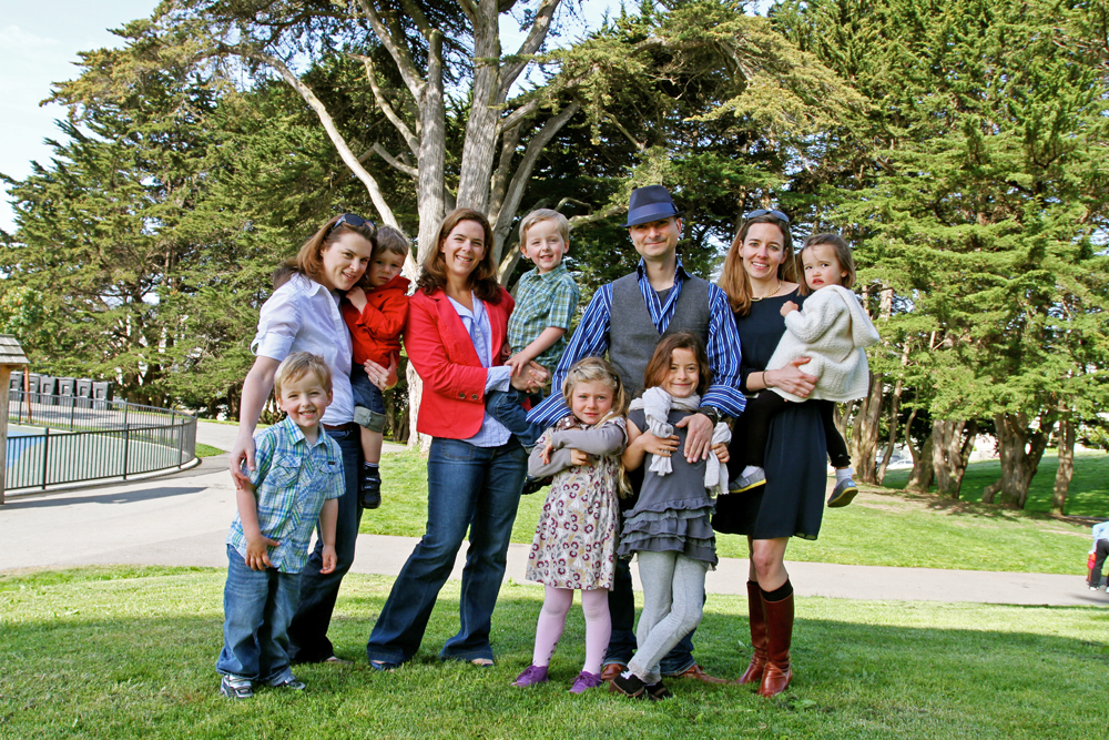 A warm welcome from our family to yours!UrbanSitter founders and their kids.