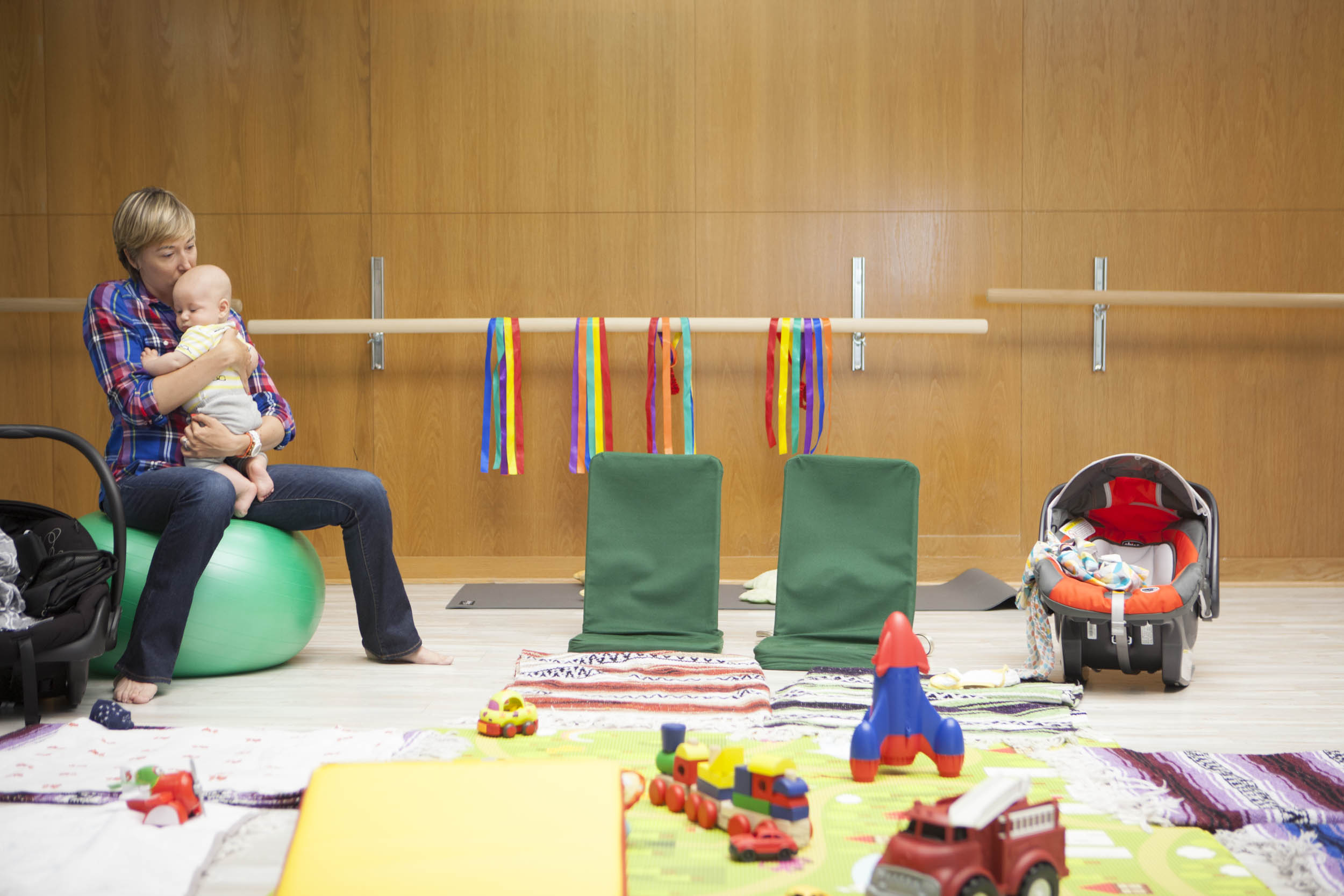 A playful, peaceful space for moms and babies at the mother nurture center