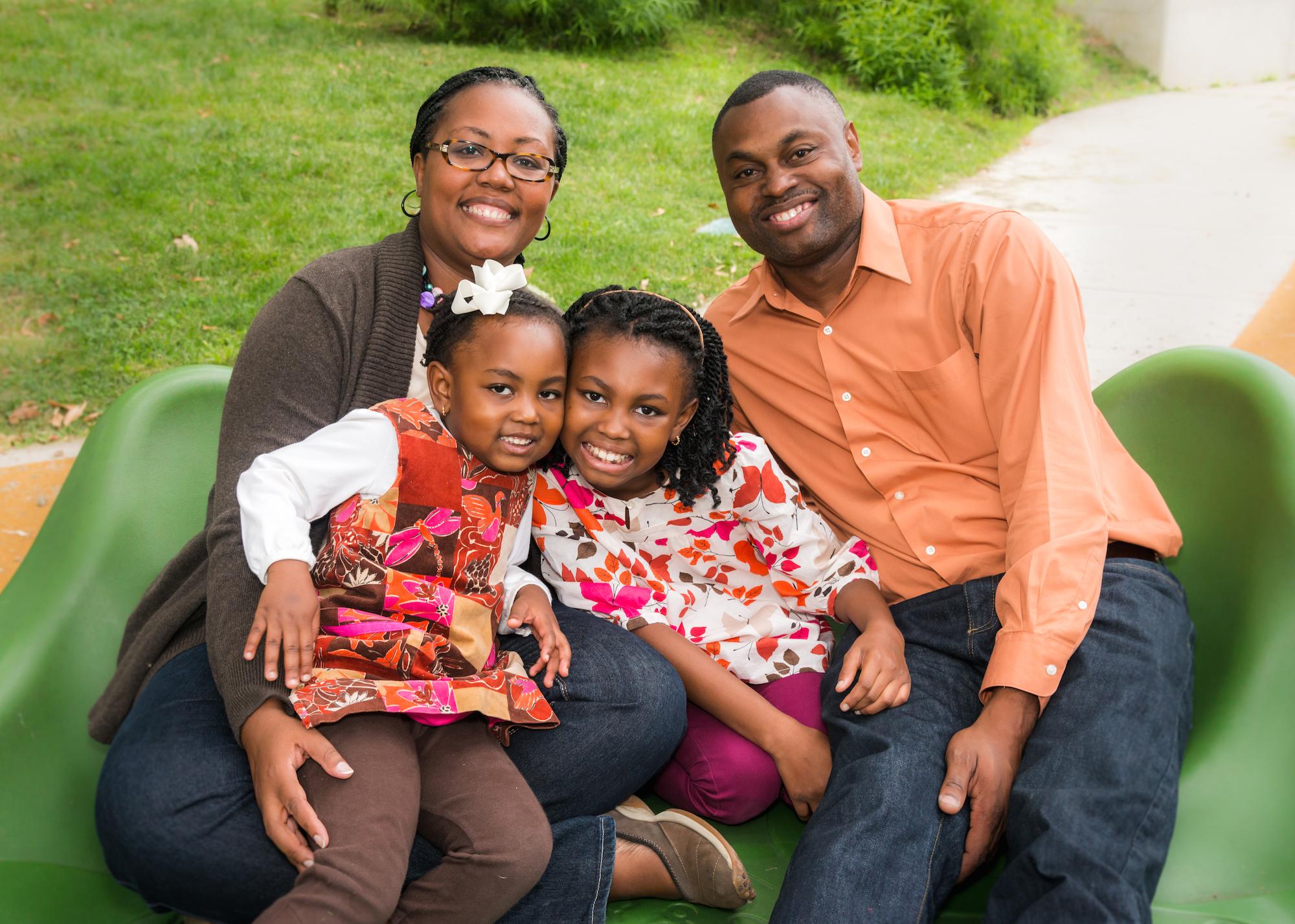 The Luke Family at DC's Takoma Park Recreation Center