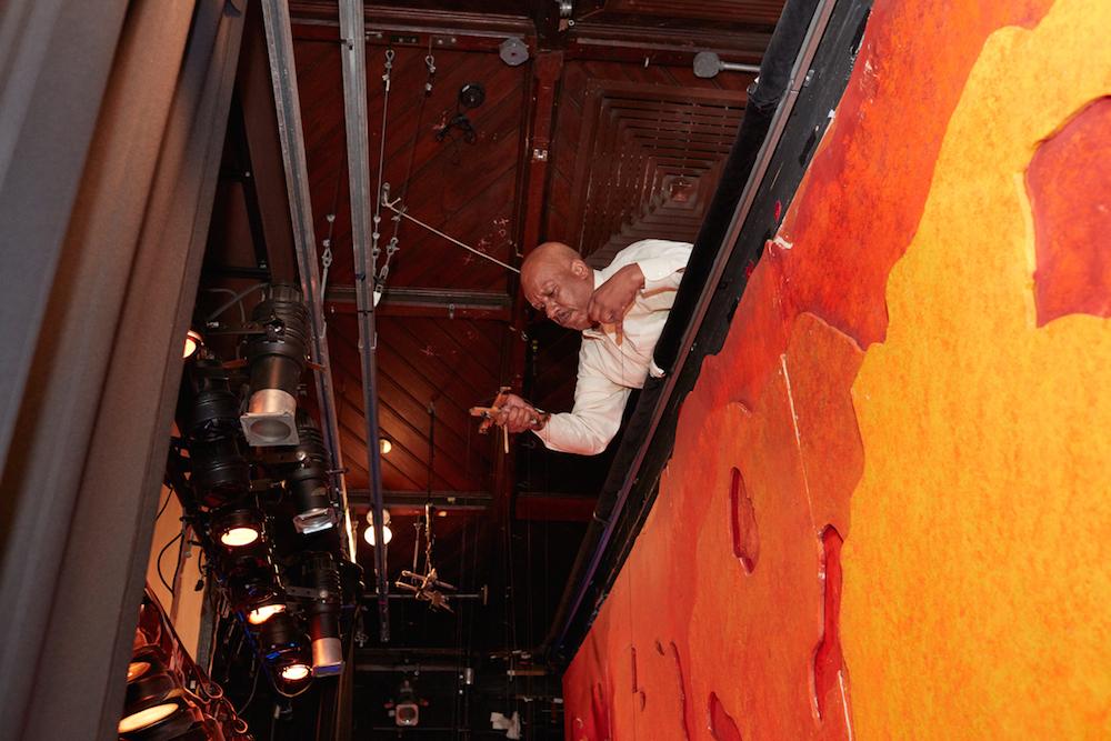 Bruce Cannon making the marionette magic happen