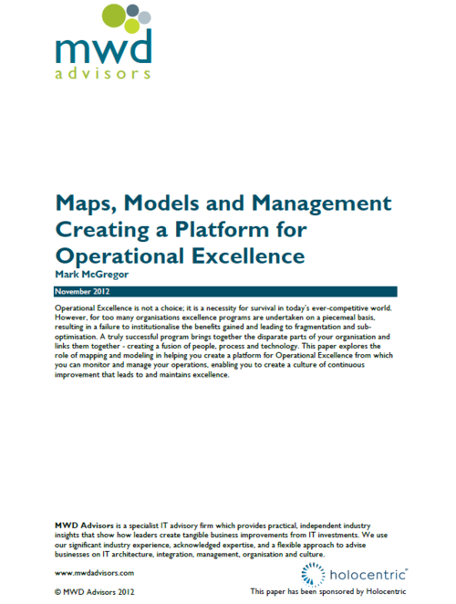 MAPS, MODELS AND MANAGEMENT - CREATING A PLATFORM FOR OPERATIONAL EXCELLENCE.png