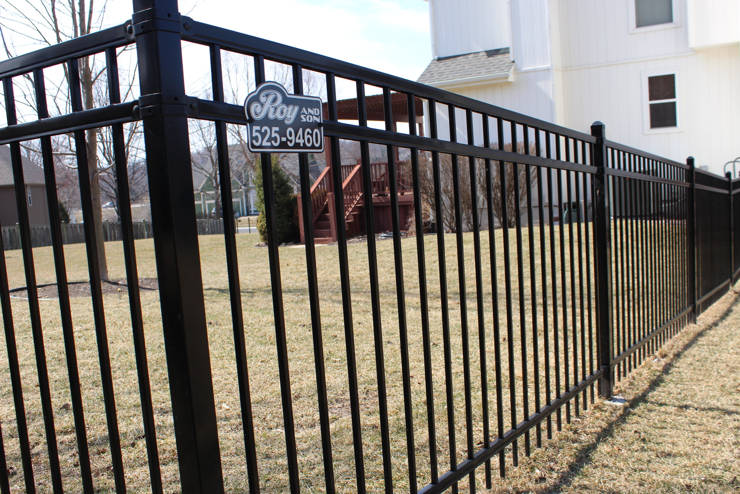 Steel and Aluminum - Metal fences are increasing in popularity due to their high curb appeal and unmatched durability. They are easy to maintain and give the owner immediate ROI (return on investment). They provide unblocked site-lines while maintaining the property's barriers and security.