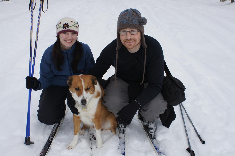 Dr. VanBrown, Nick (Husband), and Dublin (Dog)
