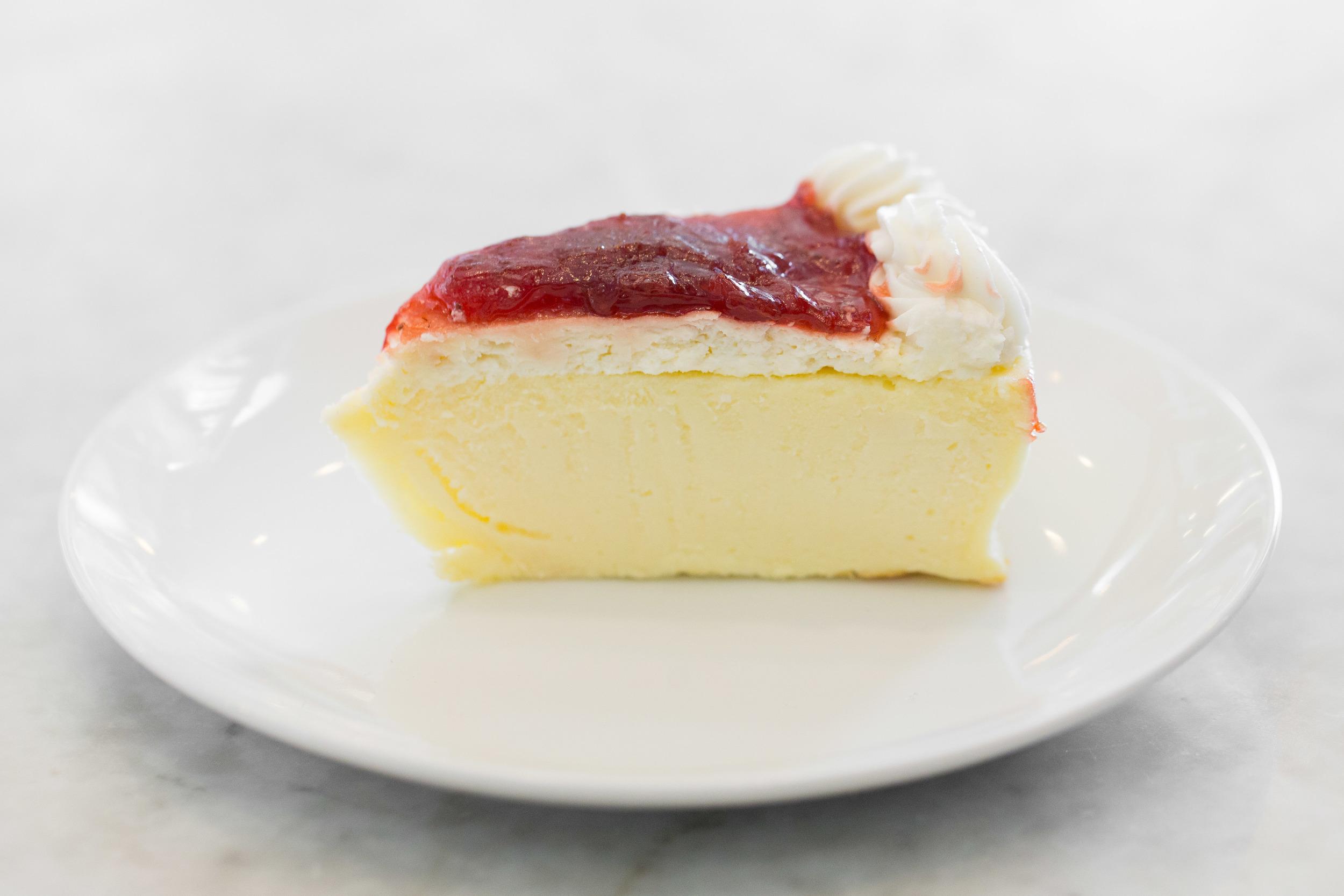 Strawberry Ricotta Cheesecake Slice