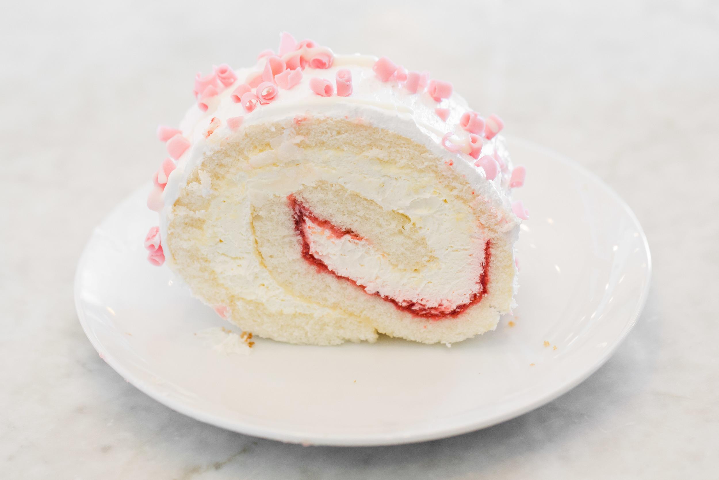 Strawberry Chiffon Slice
