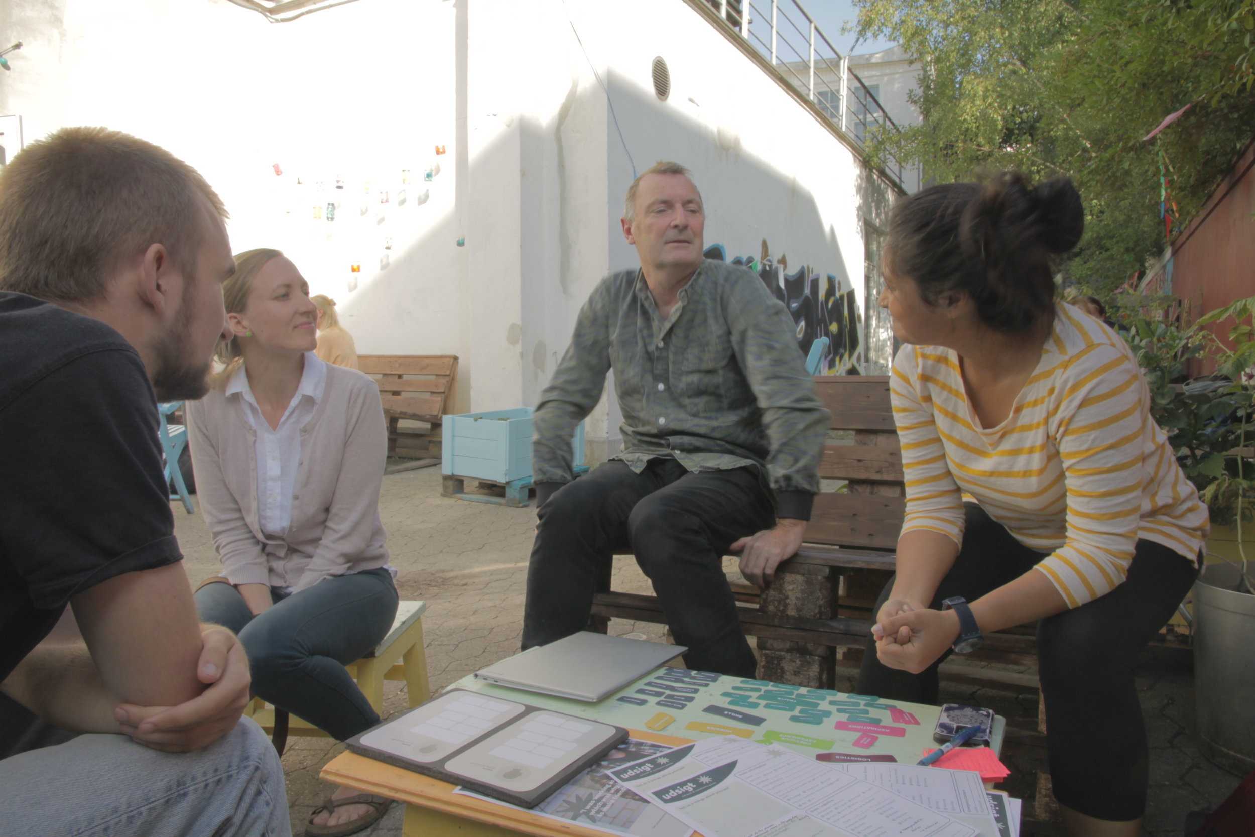 Interviews and co-creation at Trampoline House