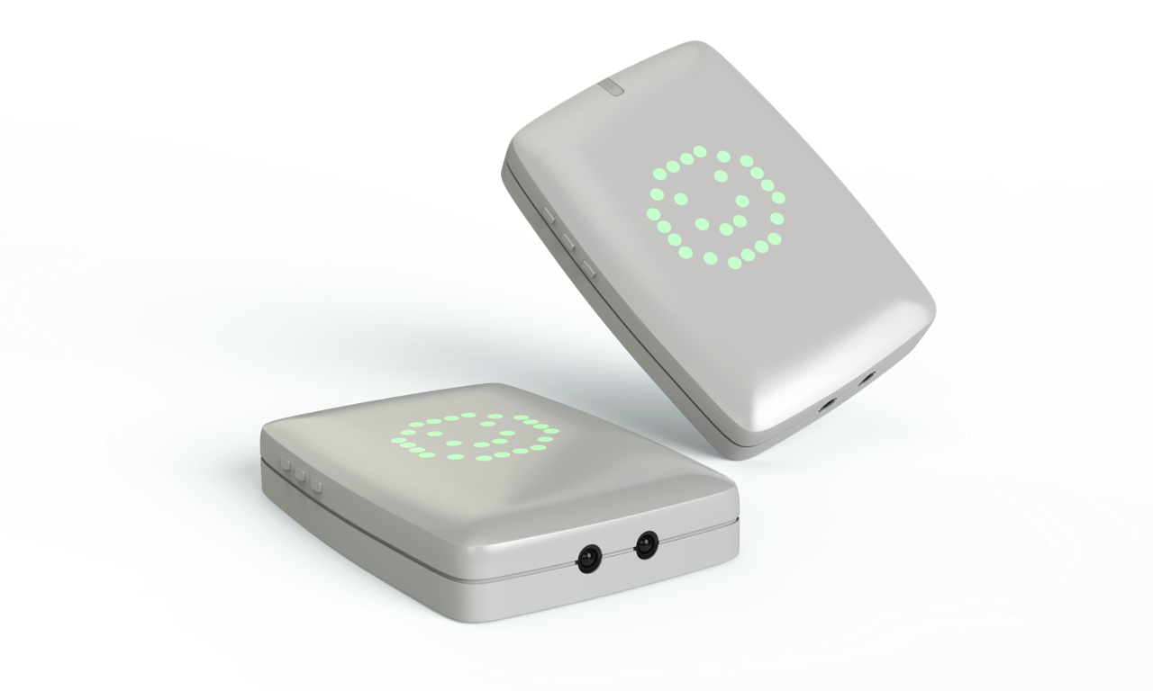 The original sensor design that Saninudge asked us to redesign, with the square 'screen' setup