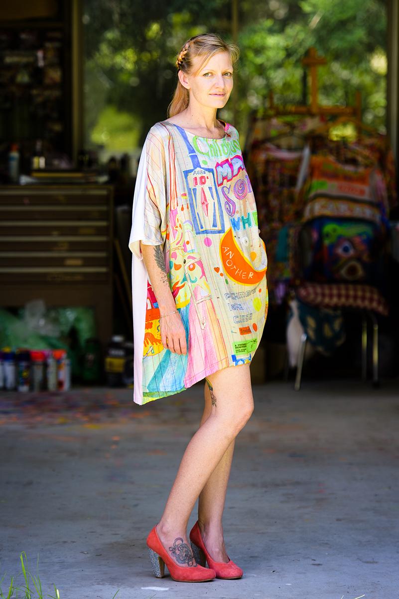 Magical Silk Bamboo Digital Print Dress (SOLD, I'm afraid!)