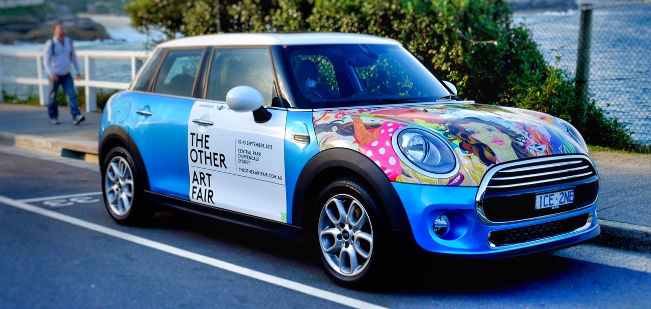 My Coney Island Girls on a TOAF Sydney MINI Cooper!