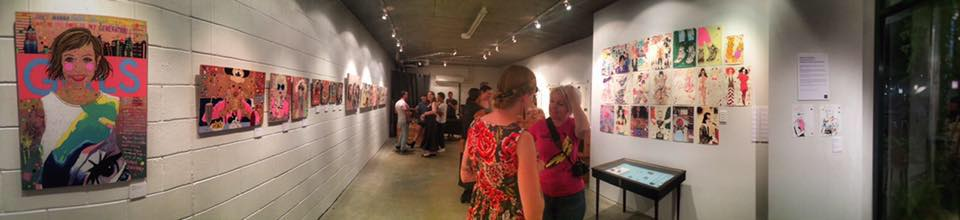Panoramic view of the exhibition opening night