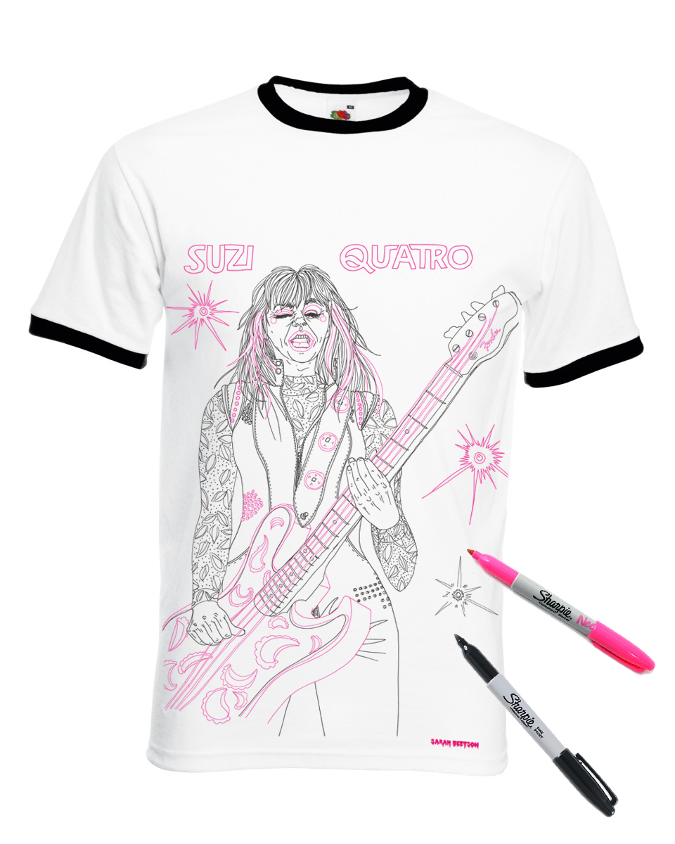 Suzy Quatro - colouring in version!