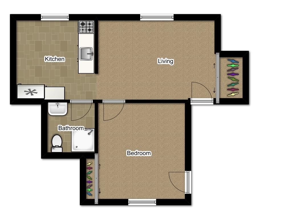 One Bedroom 775 sqft