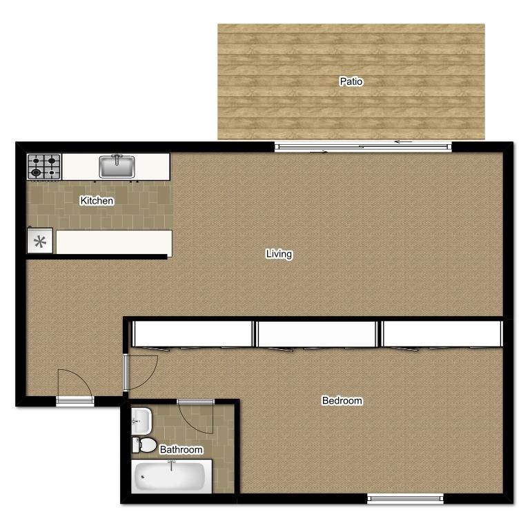 One Bedroom 516 Sqft