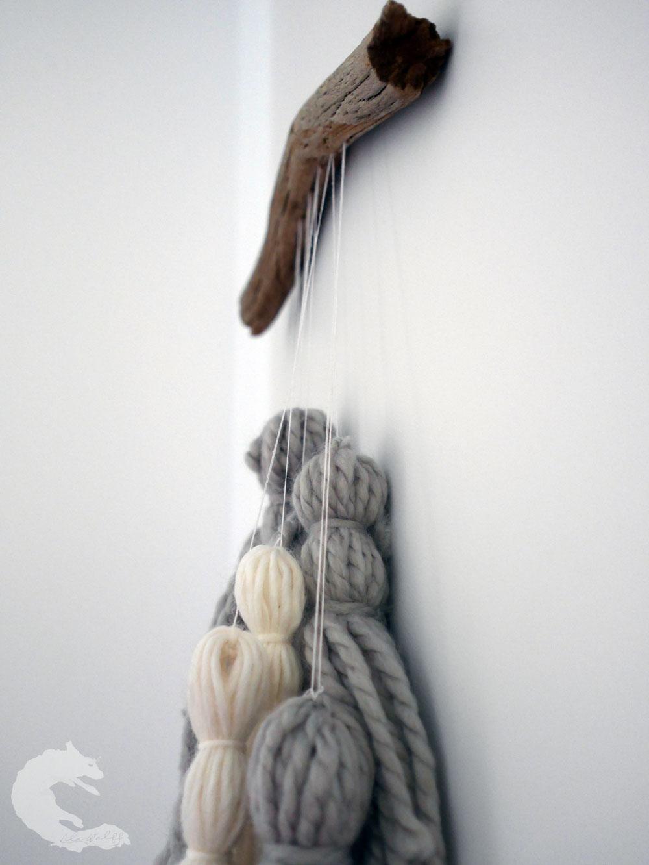 DIY wool tassel mobile