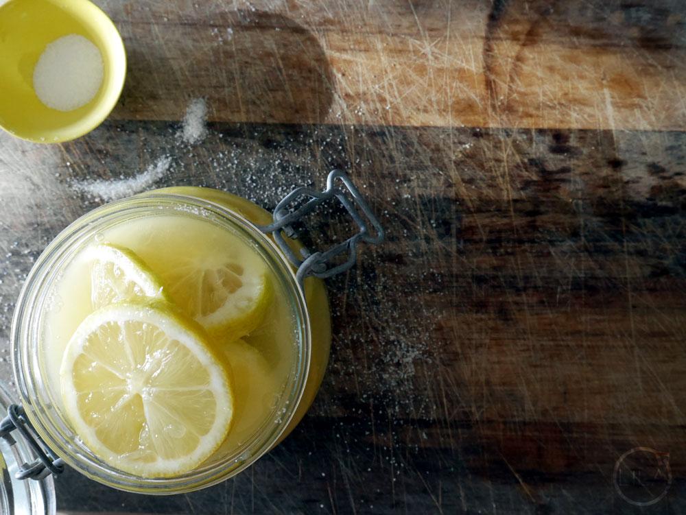 Sliced preserved lemons
