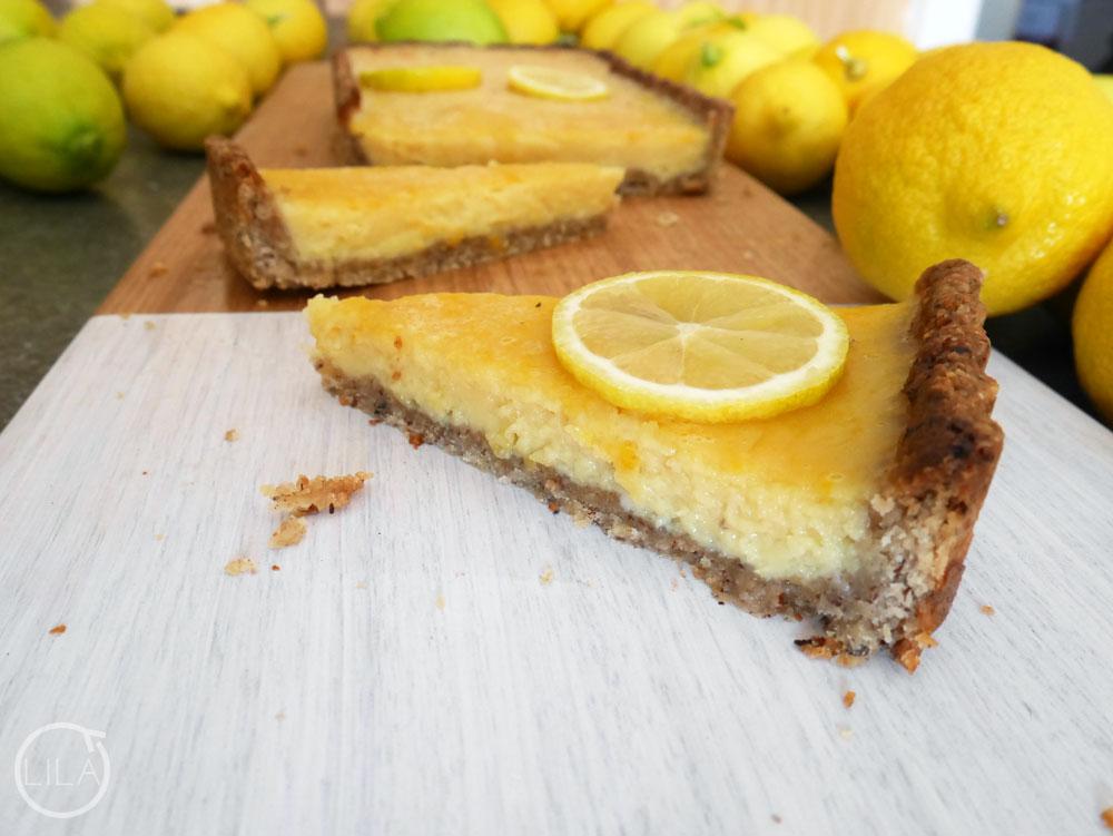 Hazelnut crusted lemon tart