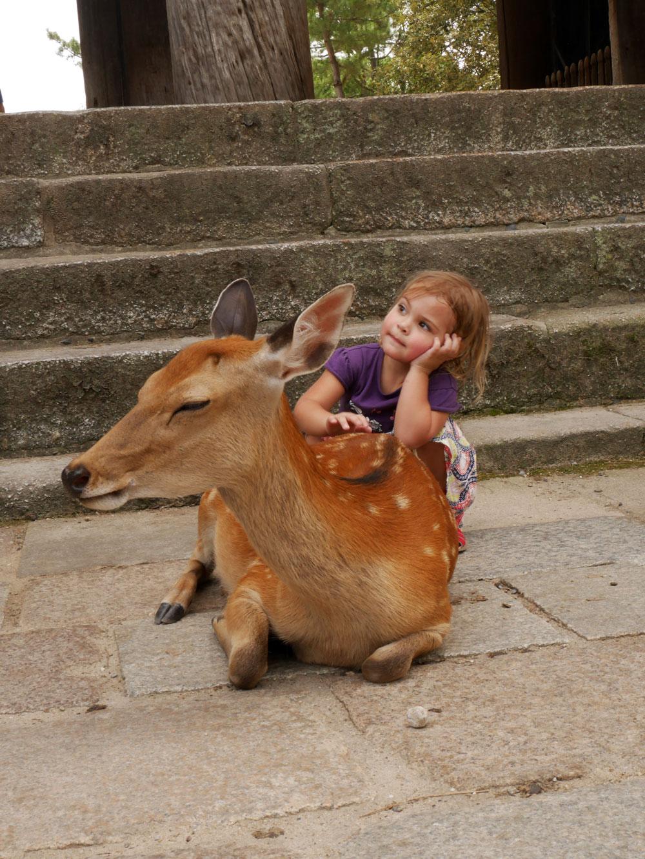 Eve and the deer Nara