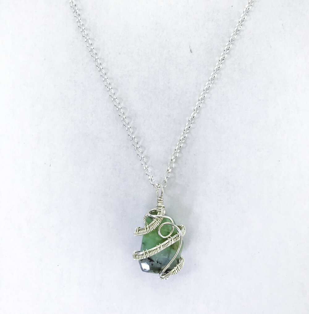 Peruvian Opal  wire-wrapped Necklace!