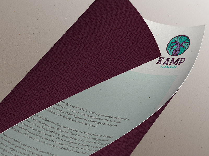 Letterhead back and front.