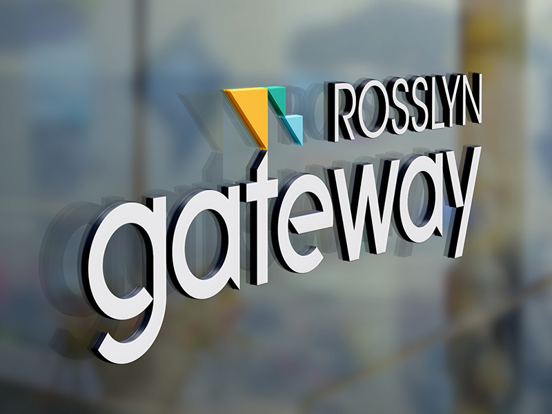 Rosslyn Gateway leasing office signage