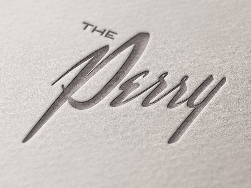 Main logo, letterpressed.