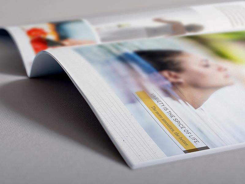 Brochure interior spread.